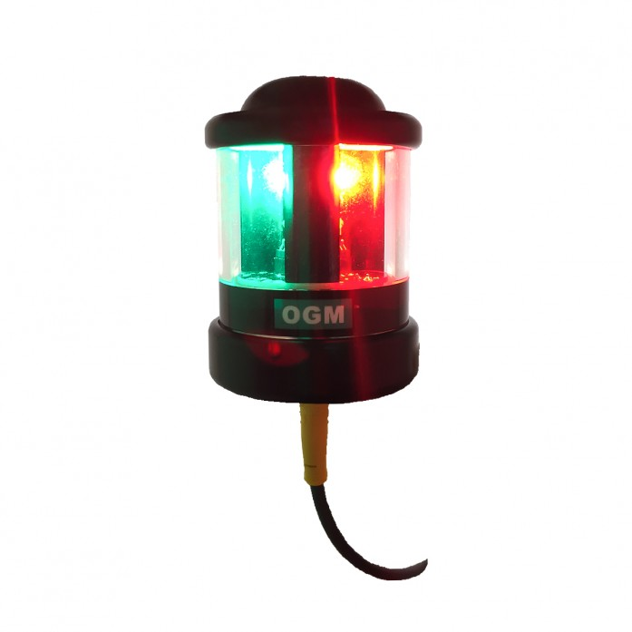 New OGM Q Series LED Tricolor/Anchor Combination Navigation Light